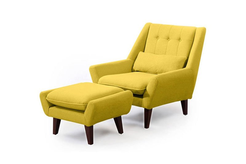 Fotel GIRMA Z Podnóżkiem