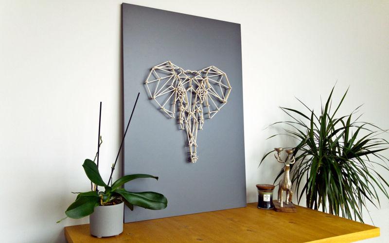 Obraz STRING ART SŁOŃ - WOOLEN LUMBERJACK