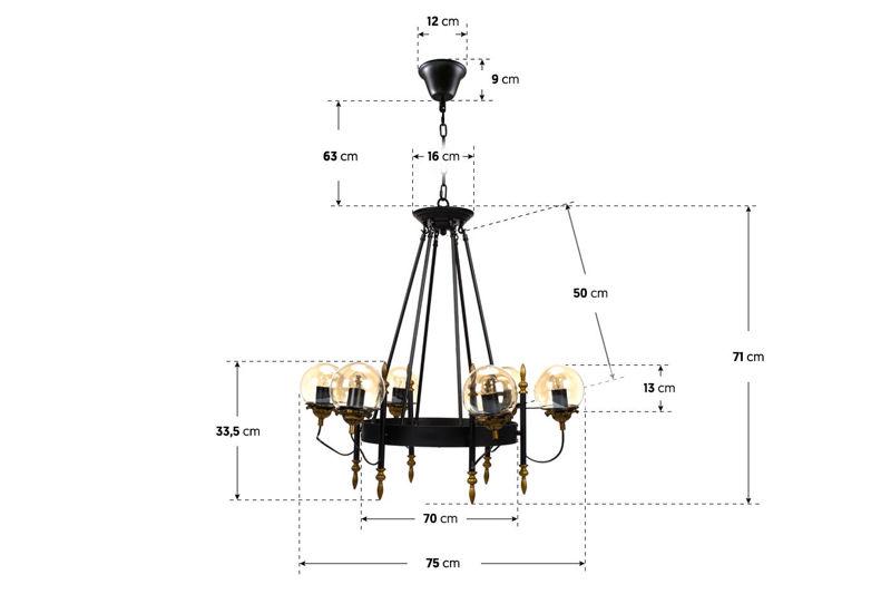 Lampa HILLMAN 6