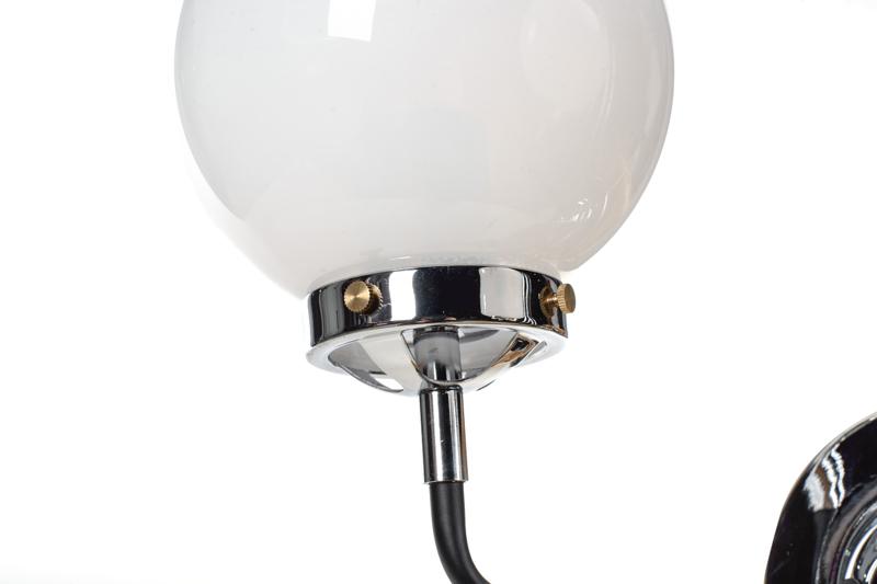 Lampa MORED 2 Chromowana Mleczne Szkło