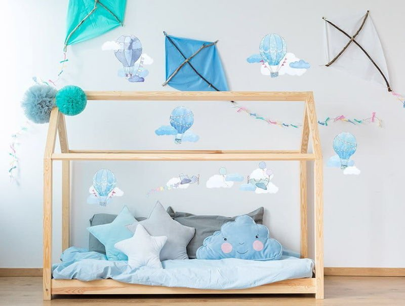 naklejki | balony błękitne Pastelowe Love